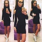 Sexy Women Long Sleeve BodyCon Bandage Slim Party Clubs Cocktail Mini Dress - LD