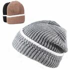 New White Line Beanie hat ski Cable Knit hats winter warm cap for Men and Women