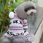 New Pet Dog Puppy Warmer Soft Sweater Hoodie Jumpsuit Coat Clothes Outwear W