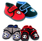 Infants Childrens Kids Boys Football Club Velcro Boots Slippers Size 3-10