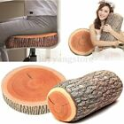 New Home Natural Camping Cylinder Woods Design Log Soft Plush Cushion Pillow