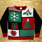 Super Ugly Christmas Sweater New! Funny