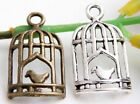 Wholesale 23/50Pcs Tibetan Silver/ Bronze Birdcage  Charms 27x14mm(Lead-free)