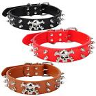 New Breed Spiked Studded Skull Leather Pet Dog Collars Choker Necklace HYSG