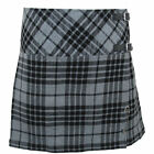 Tartanista Grey Granite 16.5 Inch Mini Kilt Skirt 6-28