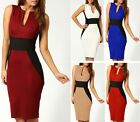 Womens Animal Jacquard Scuba Panel Bodycon Midi Ladies Party Hourglass Dress