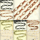 Antique Copper Silver Brass Black Cable Chains Links 2m/4m fit Bracelet Necklace