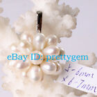 4-5x6-7mm Oval Natural Freshwater Pearl White Gold Plaeted Pendant 1 Pcs