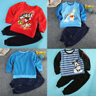 Mickey Winnie the Pooh Baby Boys Kids T-shirt Tops +Pants Outfit 2PCS Set Suits