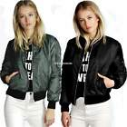 Womens Classic Quilted Short Jacket Padded Bomber Coat Jacket Outerwear Tops