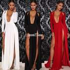Womens Bodycon Side Slits Maxi Long Ball Gown Evening Party Cocktail Sexy Dress
