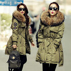 Womens Winter Warm Lady Good Real Fur Hood Luxurious Real Duck Down Parka Coat