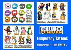 CLUB PENGUIN Disney X14 temporary Kids TATTOOS  waterproof  LAST1WEEK+  tattoo
