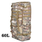 60L Outdoor Military Backpack Sports Hiking Camping Shoulder Bag +Rain cover