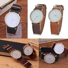 Fashion Casual Men's Women's Leather Stainless Steel Quartz Wrist Watches New MT