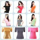 Fashion Womens New Off-Shoulder Casual Tops Blouse Bodycon Slim T-Shirt Shirts