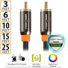 FosPower Gold Plated Dual Layer RCA S/PDIF Digital Coaxial Coax Audio Cable Plug