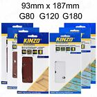 KINZO PAINT REMOVAL / SAND PAPER 93mm x 187mm Electric Sander Grit COARSE - FINE