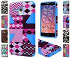 For Alcatel OneTouch Fierce XL Dynamic Design Hybrid Dual Layer Cover Case