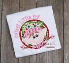"Youth Girl Christmas Elf Girl ""Cutest Little Elf"" Holiday Long Sleeve Shirt"