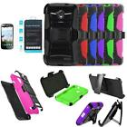 Phone Case For ZTE Stratos LTE Z819c Holster Cover Stand Tempered Glass Screen
