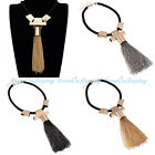 New Fashion Jewelry Women Rope Chain Tassel Statement Charm Party Necklace Hot