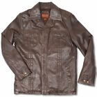 Helium M Jackson Brown Leather 70's Style Safari Jacket