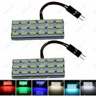 Pair Auto 18 SMD 5630 LED Panel Festoon Bulb Light With T10 Adapter ZJ205
