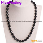 "6mm 8mm 10mm 12mm Round Natural Black Tourmaline Aries Necklace Jewelry 18""Gift"