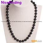 6,8,10,12mm Natural Black Tourmaline Necklace Jewelry For Man Women Xmas Present