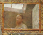 "EDOUARD VUILLARD ""Self Portrait with a Bamboo Mirror"" artist framed CANVAS PRINT"