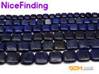 Wholesale Square Diagonal Blue Lapis Lazuli Gemstone Beads For Jewlery Making