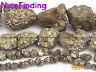 Crude Freefrom Natural Silver Gray Pyrite Beads For Jewelry Making Gemstone 15""