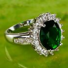Best Selling Items AAA Emerald Quartz Gemstone Silver Rings Size 6 7 8 9 10 Gift