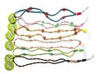 Job Lot 1 or 6 Quality Bling Bright Glass Bead Lanyard Mobile Phone Key Neck ID