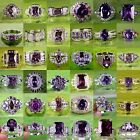 sell cartier ring - Best Selling Noble Amethyst White Topaz Gemstone Silver Ring Size 6 7 8 9 10 11