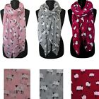 Sheep Print Design Scarves for Women Lightweight Large Size Scarf  YS