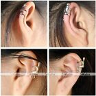 Punk Women Men Silver Gold Climbing Hug Metal Ear Cuff Wrap Clip Earring Fashion