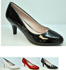 Ladies High Heel Shoes Women's Patent Wedding Casual Formal Shoes Faux Leather
