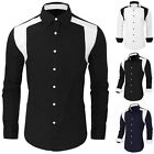 Fashion Men Casual Slim Fit Long Sleeve Shirts Formal Dress Shirts Tops 3 Colors