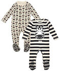 Girls Boys Baby Pack Of 2 Zebra Stripe Sleepsuit Rompers Newborn to 18 Months
