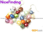 Pearl Earrings Fashion Jewelry Dangle Silver Plated Hooks Women Birthday Gift