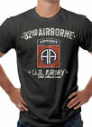 US Army 82nd Airborne Division Military Themed T-Shirt Black S M L XL XXL