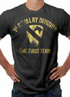 US Army 1st Cavalry Military Themed T-Shirt Black S M L XL XXL