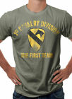 US Army 1st Cavalry Military Themed T-Shirt Olive Green S M L XL XXL