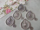 10 x Penny farthing Bicycle,Silver Tibetan Metal Charms,Pendant,large statement