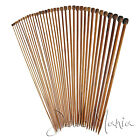 """40cm (16"""") High Quality Bamboo Single Pointed Knitting Needles Sizes 2mm to 10mm"""