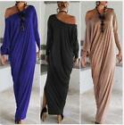 Sexy Womens Loose Long Sleeve Evening Cocktail Party Maxi Dress Clubwear Hot
