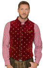 Stockerpoint Traditional Costume Velvet Vest Gilet - Calzado - Dark Red