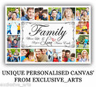 PHOTO/PICTURE MONTAGE COLLAGE FAMILY GIFT FRAMED PERSONALISED INCH CANVAS <br/> WOW MASIVE 50% OFF + FREE CANVAS OFFER + PREMIUM SELLER